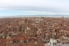 A view of Venice from the top of the Campanile Bell Tower. #venezia #panorama
