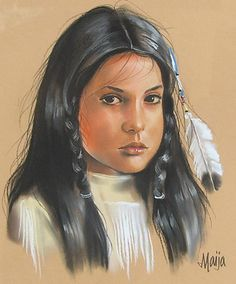 Native American Maija Art | Windsor Betts: Native Girl by . Maija