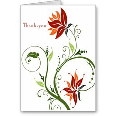 free images of thank you cards   ... flower design you ll be pleased with this thank you card the long