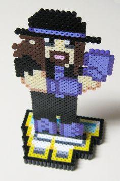 Perler Undertaker (Code Monkeys) by on DeviantArt Bead Crafts, Diy And Crafts, Crafts For Kids, Arts And Crafts, Pearler Beads, Fuse Beads, Minecraft Pixel Art, Perler Bead Art, Undertaker