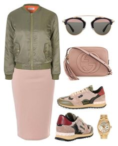 """""""Untitled #34"""" by divamanda ❤ liked on Polyvore featuring Glamorous, Valentino, Gucci, Christian Dior and Rolex"""
