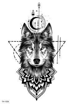 Wolf Tattoo Forearm, Wolf Tattoo Sleeve, Lion Tattoo, Sleeve Tattoos, Mandala Tattoo Sleeve Women, Wolf Girl Tattoos, Wolf Tattoos For Women, Tattoos For Men, Armband Tattoo Design
