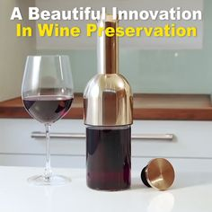 A beautiful innovation in wine preservation.Elegant wine decanter with a unique, patented system that keeps your wine tasting perfectly fresh, ensuring you never waste a drop again. This a beautifully designed wine decanter that gives Cool Kitchen Gadgets, Cool Kitchens, Innovation, Wine Decanter, Wine Bottles, Wine Glass, Wine Tasting, Cool Things To Buy, Alcoholic Drinks