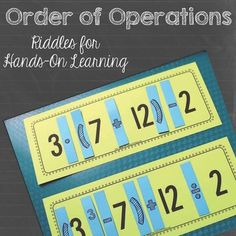 FREE: Order of Operations: Riddles for Hands-On Learning - these are pretty challenging, but look fun too!