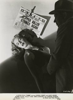 Publicity shot of Mary Meade in Anthony Mann's T-MEN/