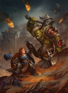 World of Warcraft - Battle for Lordaeron , Ekaterina Shapovalova World Of Warcraft Characters, Fantasy Characters, Larp, Warcraft Orc, Blizzard Warcraft, Female Dwarf, Orc Warrior, Dc Comics, Character Art