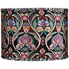 Modern Lamp Shades, Light Shades, Bohemian Lamp, Bohemian Style, Mid Century Modern Lamps, Make A Lamp, Lampshade Designs, Bohemian Pattern, Spiral Pattern