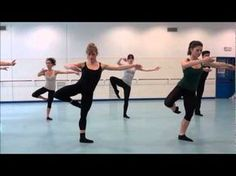 This is the video of a Contemporary Dance class... It's very similar to what I am doing at my own classes, only one level up.