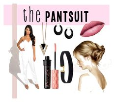 """""""The pantsuit"""" by tally-stew ❤ liked on Polyvore featuring Keepsake the Label, TheBalm, Benefit, Bling Jewelry, Chicnova Fashion and thepantsuit"""