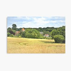 'An Impressionist View of Aldworth Village ' Canvas Print by IanWL Framed Prints, Canvas Prints, Art Prints, My Canvas, Impressionist, Art Boards, My Arts, Printed, Explore