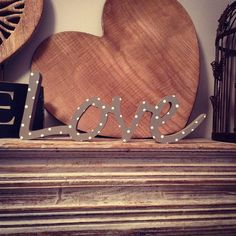 Freestanding Wooden Letters  Love  Script  by LoveLettersMe