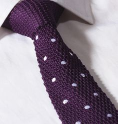 Gentleman Joe Navy Blue /& Pink Polka Dot Skinny Tie Multicolored