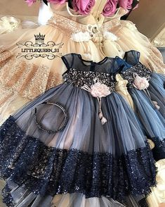 Inspire Idea of Flower Girl Dress for Wedding Party, Part 8 Flower Girl Dresses Boho, Girls Blue Dress, Little Dresses, Little Girl Dresses, Cute Dresses, Girls Dresses, Flower Girls, Little Girl Fashion, Kids Fashion