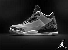 timeless design d5b33 3fc7d Air Jordan 3 III Retro Wolf Grey 136064-004 (2) Air Jordan 3