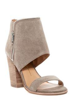 Amazing Khaki Suede Dolce Vita Pazya Heel Sandals