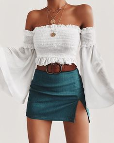 Summer Outfits Women Summer Outfits For Teen Girls Casual Summer # sommer outfits frauen sommer outfits für teen girls casual summer Summer Outfits Women Summer Outfits For Teen Girls Cas Mode Outfits, Skirt Outfits, Fashion Outfits, Fashion Trends, Womens Fashion, Fashion Belts, Fashion Fashion, Club Fashion, Basic Outfits