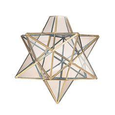 ST110CL-20cm Brass Star Ceiling Pendant Shade.: Amazon.co.uk: Lighting