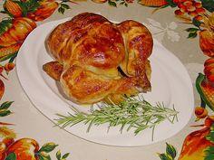 Brathähnchen, knusprig, ein gutes Rezept mit Bild aus der Kategorie Geflügel. 222 Bewertungen: Ø 4,4. Tags: Braten, Geflügel, Hauptspeise