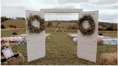 Wedding Idea , add your own decorations on the doors.