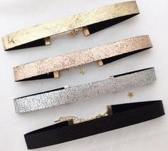 4 chic holiday chokers set