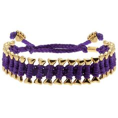 Heart U Back Friendship Bracelet Multi - Pur/Gold , These canine-inspired friendship bracelets feature rhodium-plated bone shapes  tightly wrapped in brightly colored terylene cord. Paw-shaped beads finish each  end of the cord.