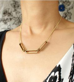 Rectangular Link Necklace by Sora Designs on Scoutmob Shoppe