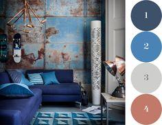 blue grey and copper colour scheme - Google Search