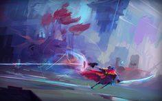 hyper light drifter art by Luke Mancini