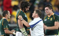 Tough call: Bryce Lawrence refereed South Africa's quarter-final loss