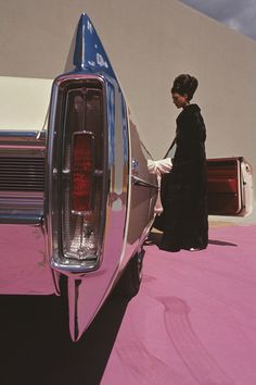 Cadillac de Ville      photo by Gene Laurents for Vogue, 1964