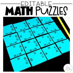 Ever heard of a Math puzzle? Check out this fun game for students. Totally customizable for any grade level!