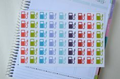 Set of 54 Gas stickers Planner Stickers by MamasGotItTogether