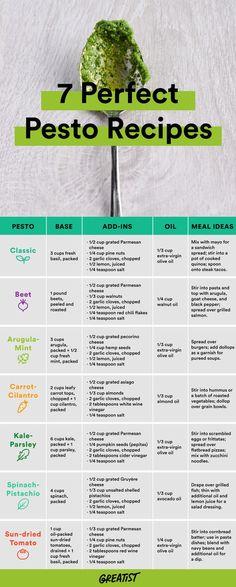 Who likes pesto? I like pesto! How To Make Pesto, Food To Make, Vegetarian Recipes, Cooking Recipes, Healthy Recipes, Cooking Herbs, Cooking Steak, Cooking Games, Homemade Pesto Recipes