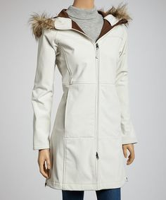Take a look at this Cream Faux Fur Raincoat - Women by Kristen Blake on #zulily today!