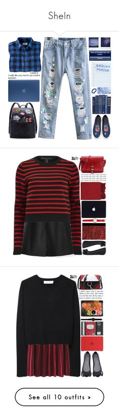 """""""SheIn"""" by scarlett-morwenna ❤ liked on Polyvore featuring Woolrich, Incase, Polaroid, vintage, Marc by Marc Jacobs, WithChic, Petra Börner, Juicy Couture, Surya and Organic by John Patrick"""
