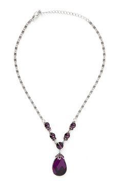 Type 2 Eggplant Pendant Necklace - Jewelry