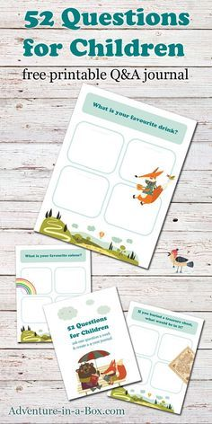 52 Questions for Children Journal: a free printable template to create a Q&A keepsake journal. A fun family tradition for birthdays and New Year's eve!