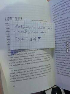 Opened a book in a german book store ...