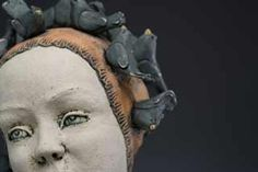 Kelly Thiel from South Carolina charms us with her ceramic figurative scuilptures