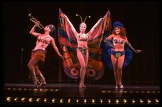 """(L-R) Jana Robbins, Barbara Erwin and Anna McNeely performing """"You Gotta Have A Gimmick"""" in a scene from the Broadway revival of the musical """"Gypsy."""" (New York) - NYPL Digital Collections"""