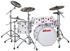 ddrum HYBRID 5 PLAYER WHT Shell Pack Kit White Wrap Finish *** For more information, visit image link.Note:It is affiliate link to Amazon.