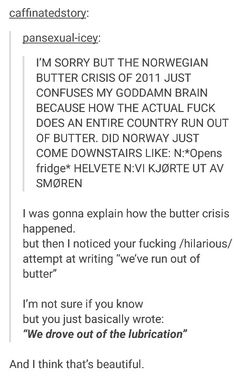 Norwegian butter crisis