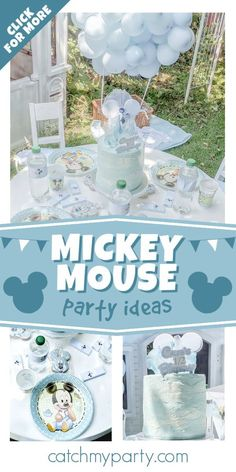 Check out this cool Mickey Mouse birthday party! The cake is so much fun! See more party ideas and share yours at CatchMyParty.com Mickey Mouse Cake, Mickey Mouse Parties, Mickey Party, Mickey Mouse Birthday, Half Birthday, Boy Birthday Parties, Party Drinks, Party Favors, Personalized Chocolate