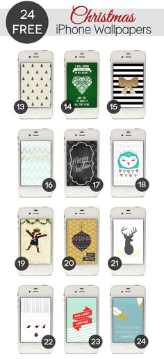 24 Free Graphic Christmas iPhone Wallpapers