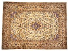 Signed Persian Kashan Ivory Hand Knotted Rug Sh12492 - traditional - Rugs - 1800 Get A Rug