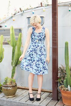 Great @modcloth dress! Love the print.