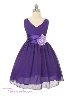 I like this flower girl dress! It comes in white and a lighter purple too... not sure what color I want yet.