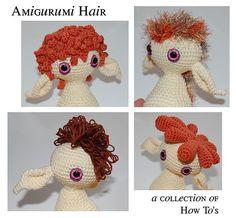 Gazebo das Artes: Como fazer os cabelos dos amigurumis
