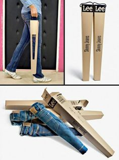 Get the skinny on this! Creative packaging for Lee's skinny jeans
