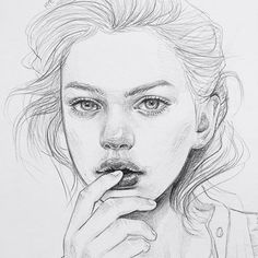 Popular Girls Drawing Ideas - Trending Drawings for Girls - Girls Face & Body Drawings - Awesome Girls Sketches Arts - Cute Teen Girls Drawings & Paintings Amazing Drawings, Realistic Drawings, Amazing Art, Face Sketch, Drawing Sketches, Art Drawings, Drawing Pin, Art And Illustration, Pencil Portrait